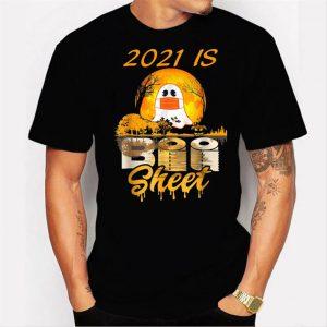 2021 Is Boo Sheet Ghost Halloween Costumes Party Men Women Men T Shirt