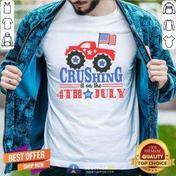 4th of July Shirt Truck 4th of July Raglan Crushing it on the 4th Classic Men T Shirt