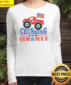 4th of July Shirt Truck 4th of July Raglan Crushing it on the 4th Women Long Sleeved T Shirt