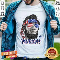 Abraham Lincoln 4Th Of July Murica Men Women American Flag Classic Men T Shirt