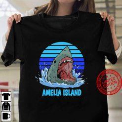 Amelia Island Vacation Shark Theme Women T shirt