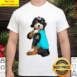 Bernedoodle I Love Dad Tattoo Apparel, Dog Dad Gifts Dads Classic Men T Shirt