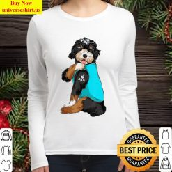 Bernedoodle I Love Dad Tattoo Apparel, Dog Dad Gifts Dads Women Long Sleeved T Shirt