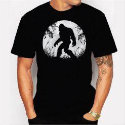 Bigfoot Hiding in Forest Men T Shirt