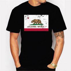 California State Flag – West Coast Ca Bear Republic Men T Shirt