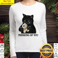 Cat Thingking Of You Women Long Sleeved T Shirt