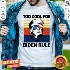 Donald Trump Too Cool For Biden Rule Vintage Classic Men T Shirt