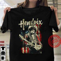 Jimi Hendrix American Flag Music Legend Women T shirt