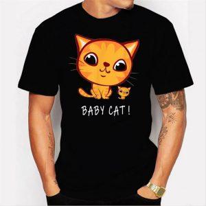 Katze Shirt Baby Cat Men T Shirt