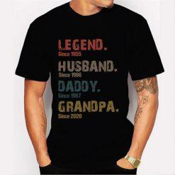 Legend Husband Daddy Grandpa Personalized Men T-Shirt