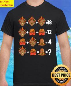 Order of Operations Thanksgiving Quiz Funny Math Teacher Classic Men T Shirt