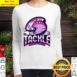Tackle Breast Cancer Awareness American Football Essential Women Long Sleeved T Shirt