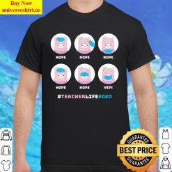 Teacher Life 2020 Llama Wearing Mask Funny Classic Men T Shirt