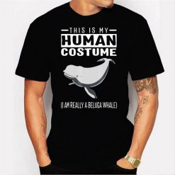 This Is My Human Costume I Am Really A Beluga Whale Men T Shirt