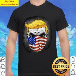 Trump USA Skull US Flag Mask Anti-Trump Skull Election Classic Men T Shirt