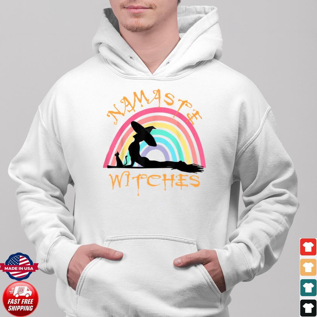 bachelorette bridesmaid maid of honor namaste witches yoga unisex hoodie