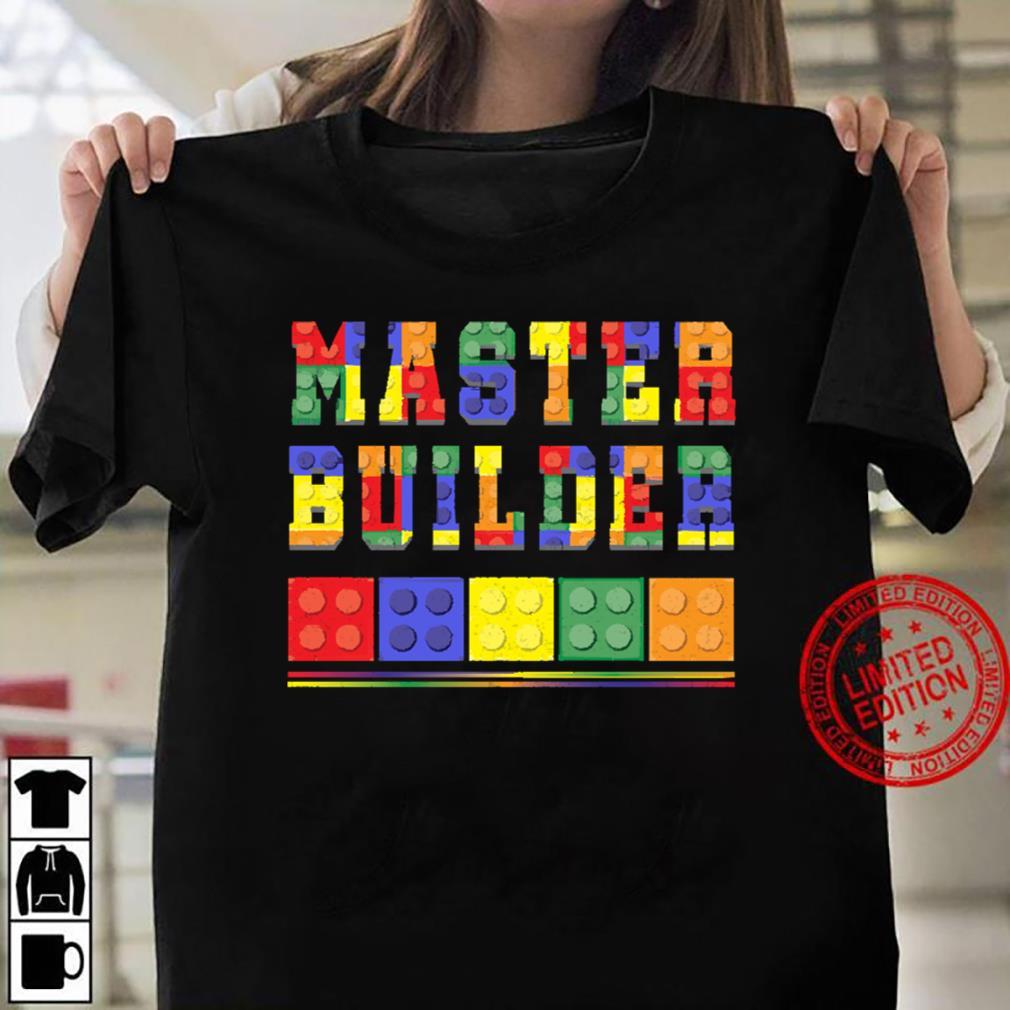 Cute Master Block Builder Bricks Women T-shirt