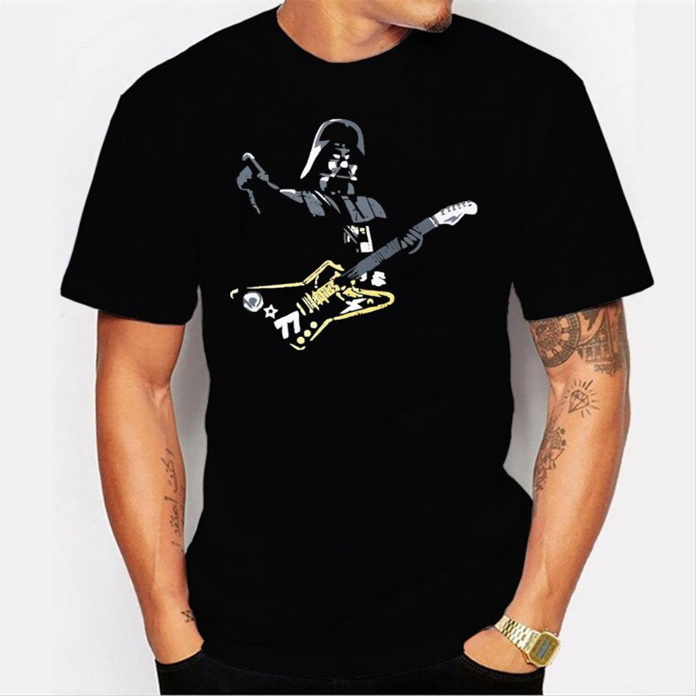 funny star wars darth vader rock star men t shirt