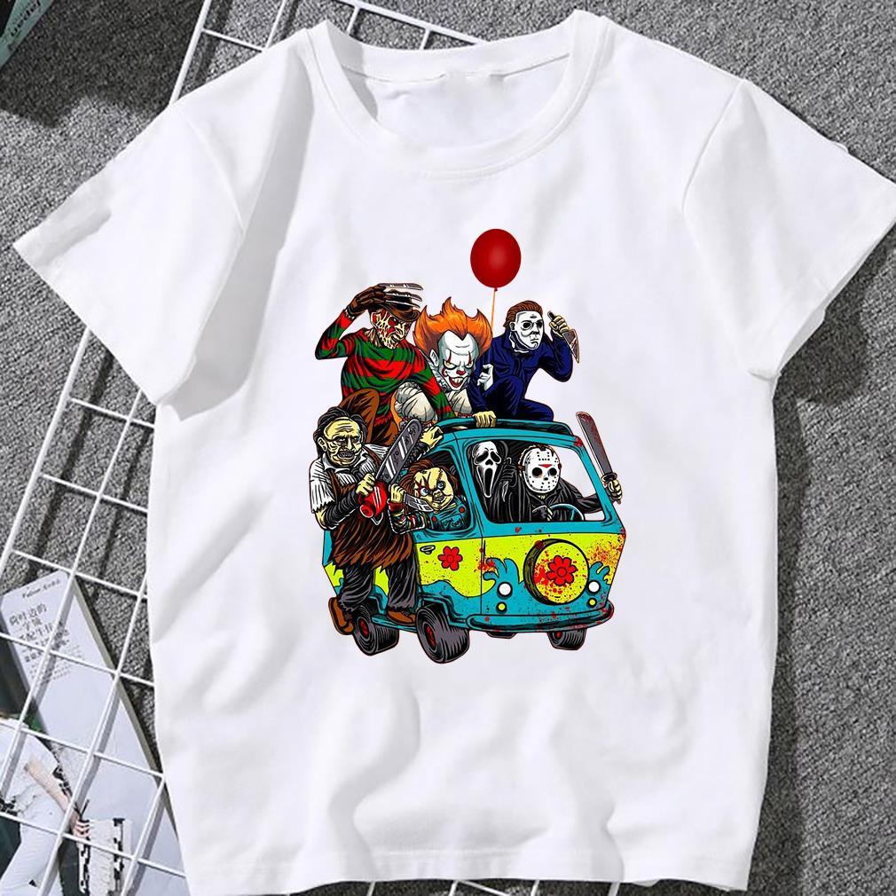 Halloween, Massacre Machine Halloween Horror Characters, Friends Halloween Tee T-Shirt Women T-shirt