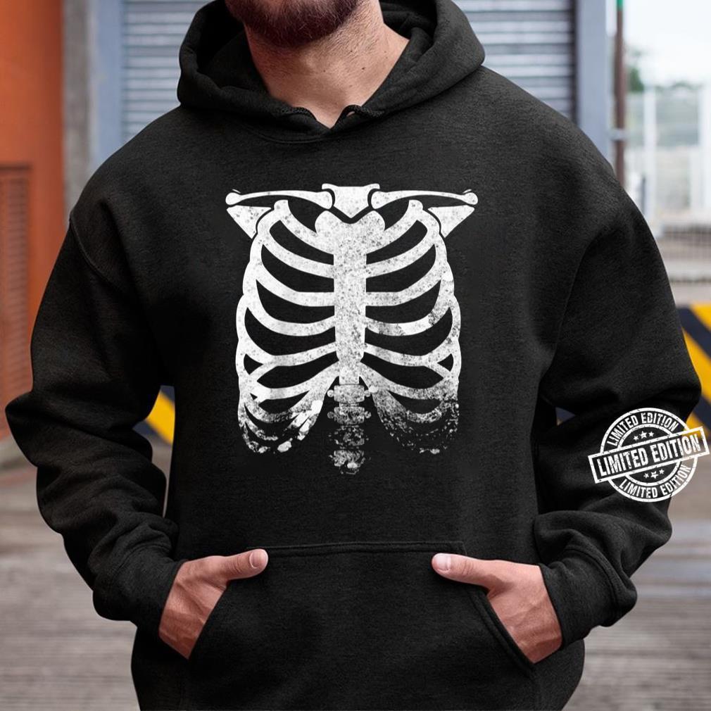 halloween skeleton rib cage retro vintage unisex hoodie