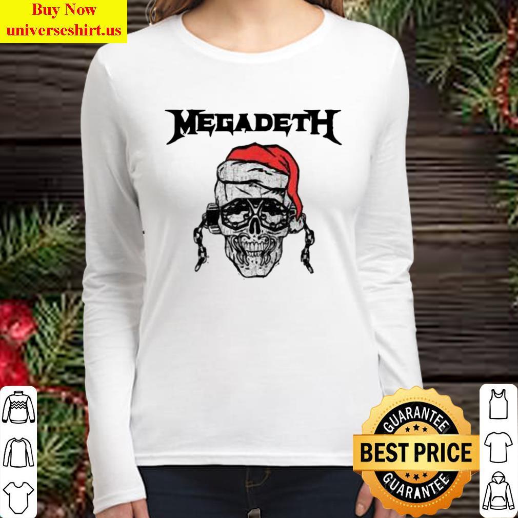 megadeth skull santa vic holiday long sleeved shirt