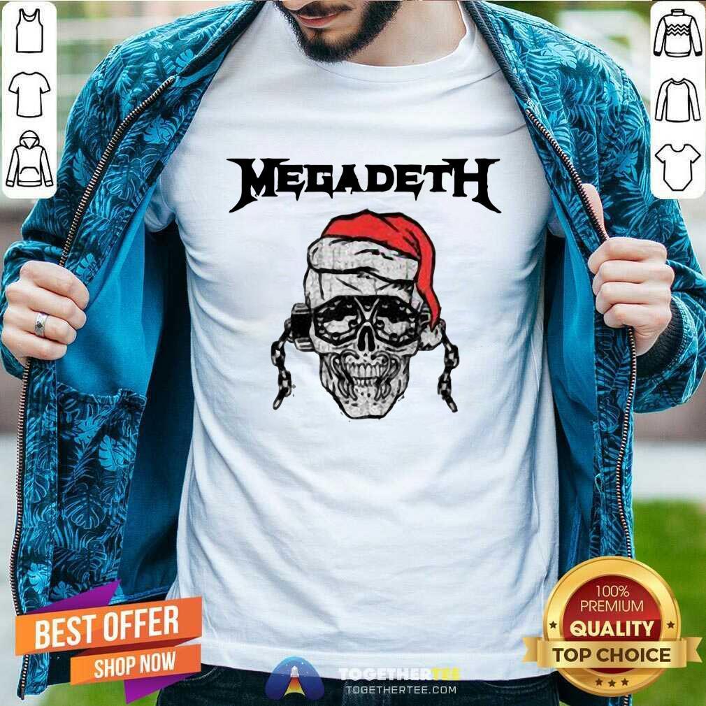 megadeth skull santa vic holiday men t shirt
