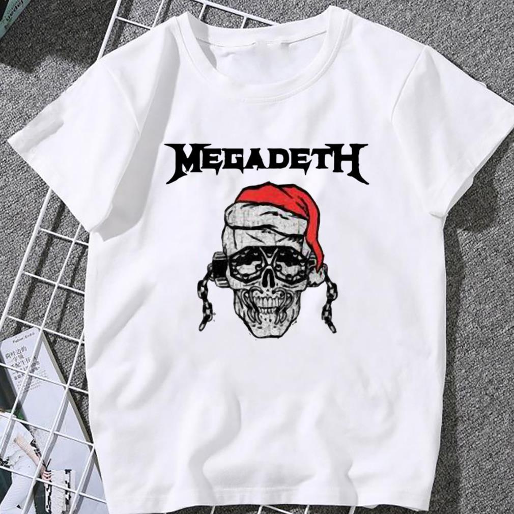 megadeth skull santa vic holiday women t shirt