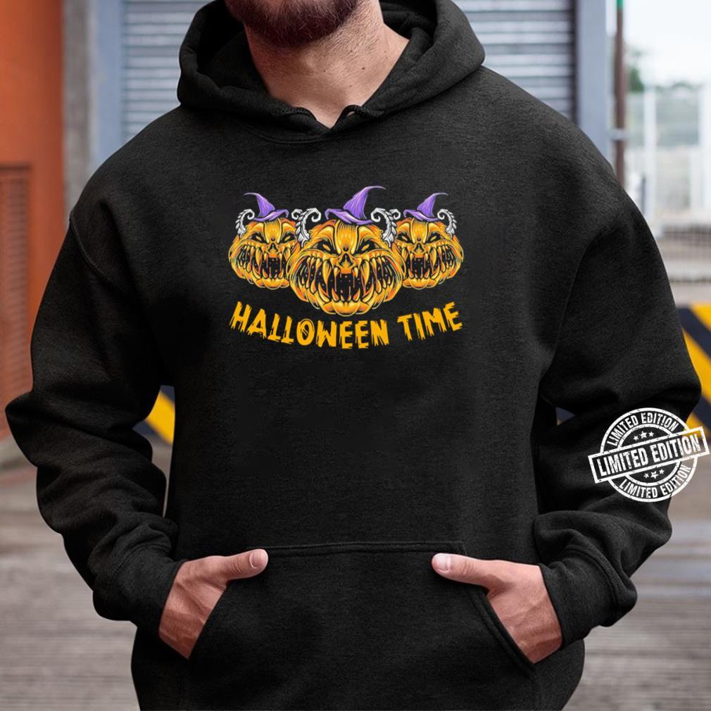 Pumkin Devil Halloween Time Scary Spooky Tee T-Shirt Unisex Hoodie