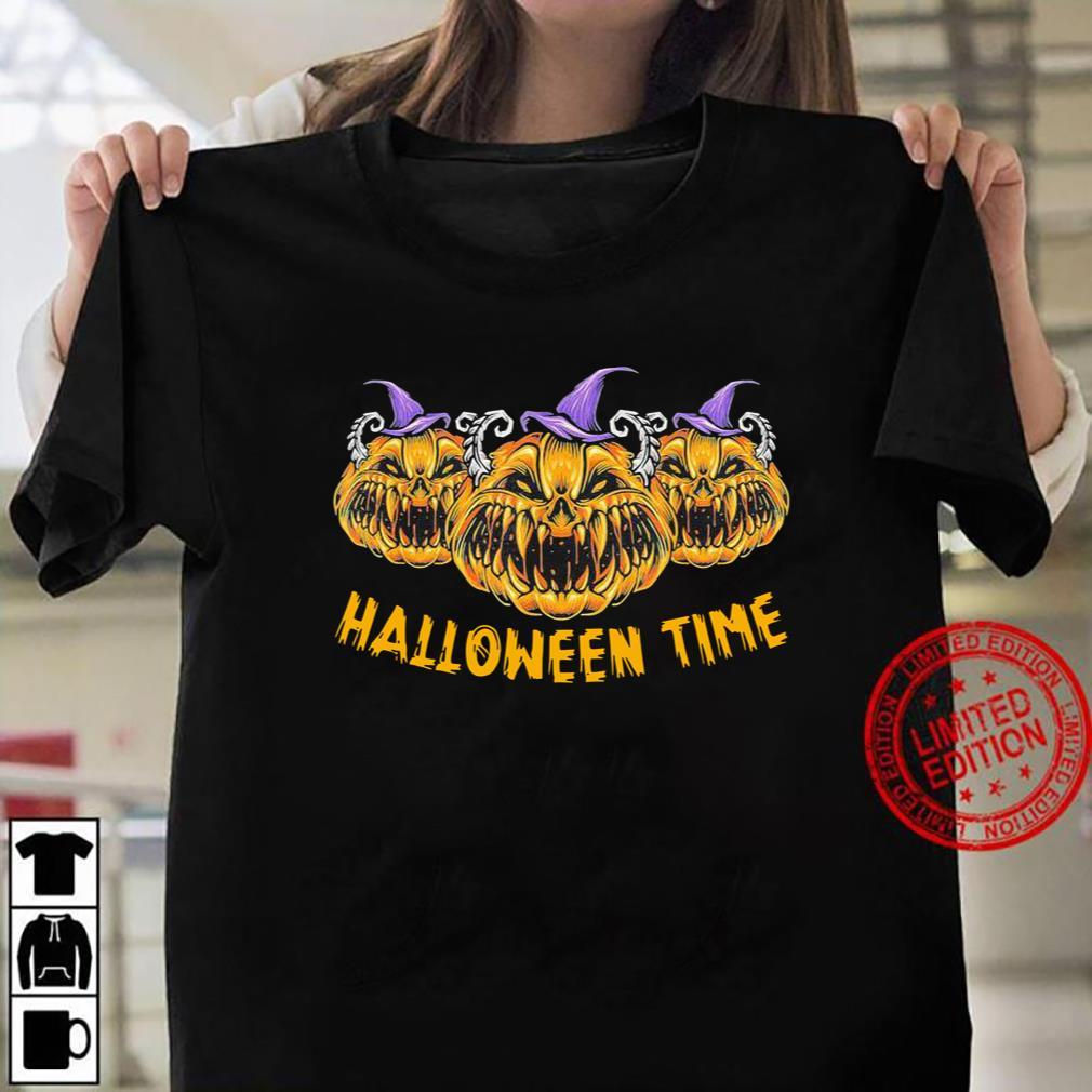Pumkin Devil Halloween Time Scary Spooky Tee T-Shirt Women T-shirt