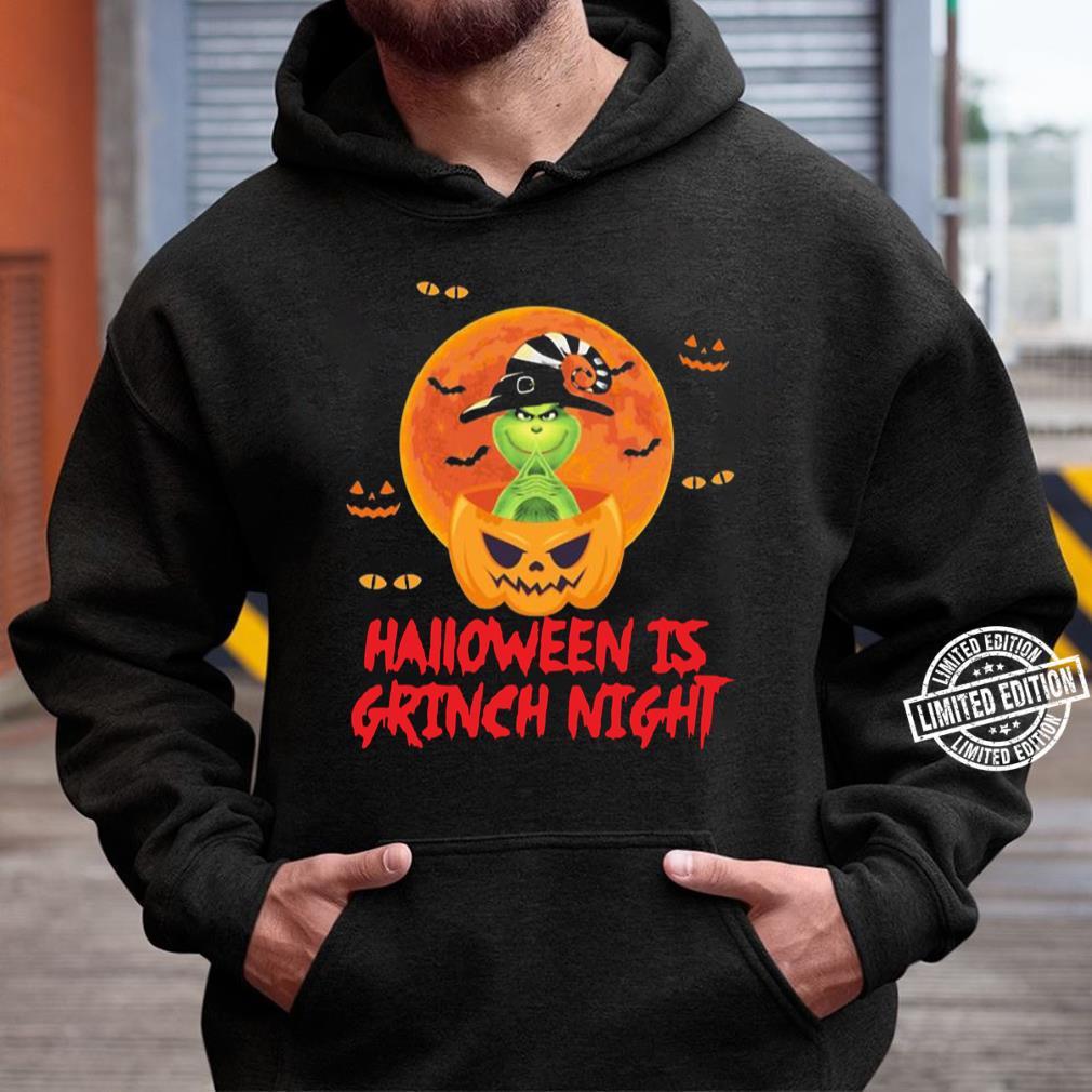 pumpkin halloween is grinch night unisex hoodie