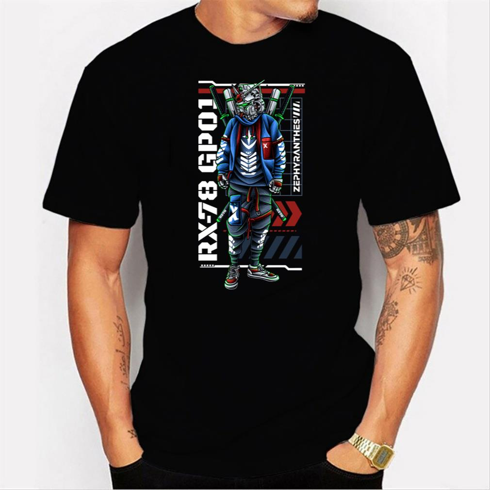 Gundam Rx-78 Gp01 Tee T-Shirt Men T-shirt